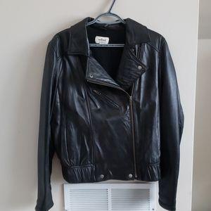 Aritzia Wilfred Leather Moto Jacket Size L